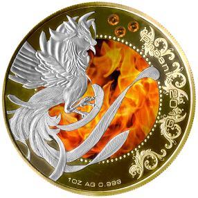 Phoenix Feueropal Münze