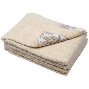 Handtuch Blätter 4er Set, ecru
