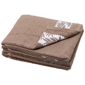 Handtuch Blätter 4er Set, braun