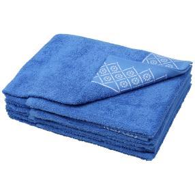 Handtuch Raute 4er Set, blau