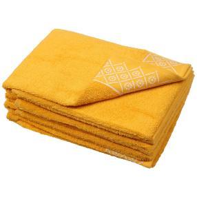 Handtuch Grafik 4er Set, gelb