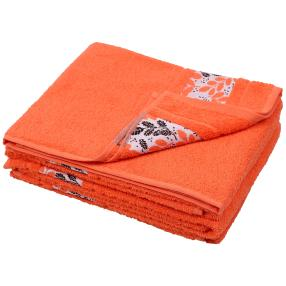 Handtuch Blätter 4er Set, orange