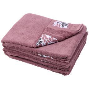 Handtuch Blätter 4er Set, lila