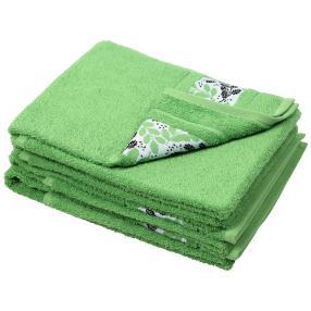 Handtuch Blätter 4er Set, grün