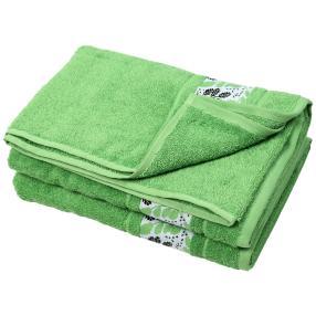 Duschtuch Blätter 2er Set, grün