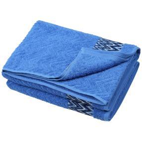 Duschtuch grafisch 2-teilig blau