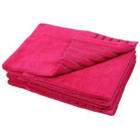 Handtuch Streifen 4er-Set pink