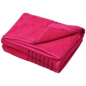 Duschtuch Streifen 2-teilig pink