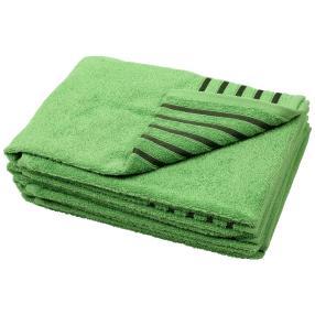 Handtuch Streifen 4er-Set grün