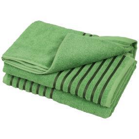 Duschtuch Streifen 2tlg. grün