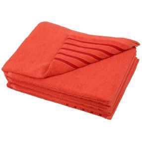 Handtuch Streifen 4er Set, terra