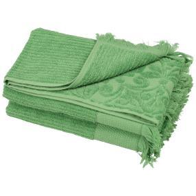 Duschtuch Fransen 2-teilig grün