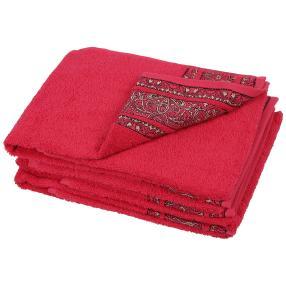 Handtuch Ornament 4er-Set pink