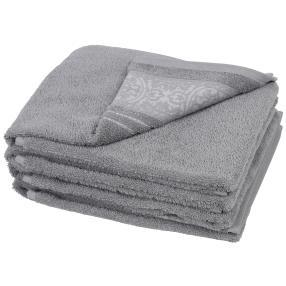 Handtuch Ornament 4er-Set grau