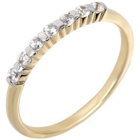 Ring 375 Gelbgold Zirkon weiß