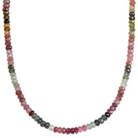 Collier Turmalin multicolor 925 Sterling Silber