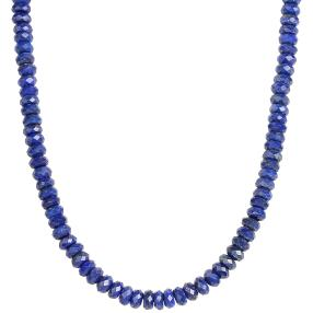 Collier Lapis 925 Sterling Silber