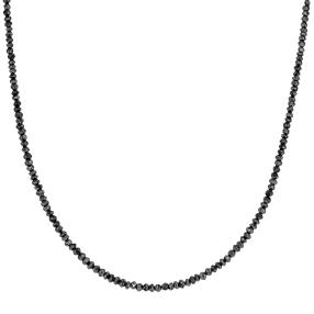 Collier Diamant schwarz 375 Gelbgold