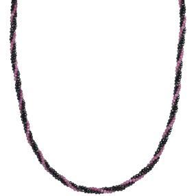 Collier Rubin/Saphir 3-reihig 925 Sterling Silber