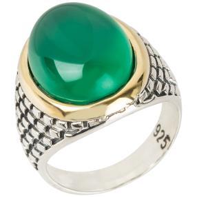 Ring 925 Sterling Silber Achat grün