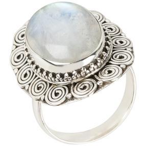 Ring 925 Sterling Silber Regenbogenmondstein