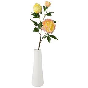 Peonienstrauß gelb-rosa, mit Vase