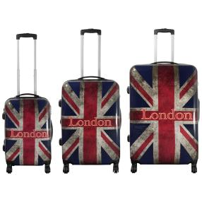 3-teiliges Trolleyset Union Jack