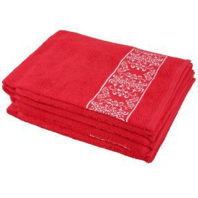 Handtuch Ornament 4er Set, rot