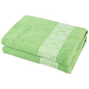 Duschtuch Ornament 2-teilig, grün
