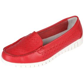 Sanital Light Damen-Slipper, rot, weiß
