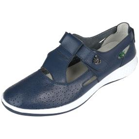 Sanital Light Damen-Slipper, navy, weiß
