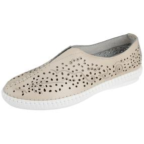 Sanital Light Damen-Slipper, beige, weiß
