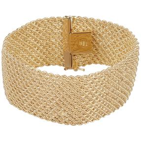 Phantasie-Armband 585 Gelbgold ca. 21,9 g