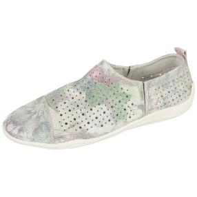 Sanital Light Damen-Slipper, multicolor, weiß