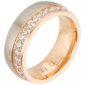 Ring Titan bicolor Zirkonia