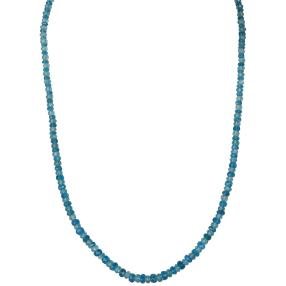 Collier Apatit blau, 925 Sterling Silber
