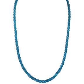 Collier Neon Apatit 925 Sterling Silber