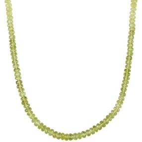 Collier Peridot natur, 925 Sterling Silber