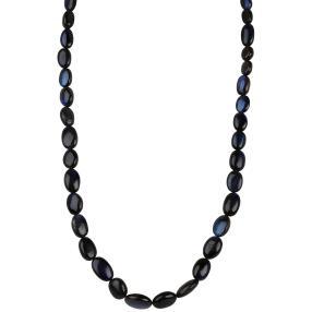Collier Labradorit blau, 925 Sterling Silber