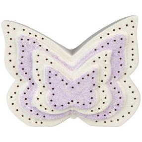 Ceramico LED-Schmetterling, weiß-lila