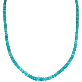 Collier Opal paraiba 925 Sterling Silber