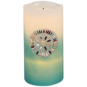 LED-Kerze mit Glassteinchen