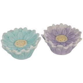 Ceramico LED-Blumen 2-teilig, grün + lila