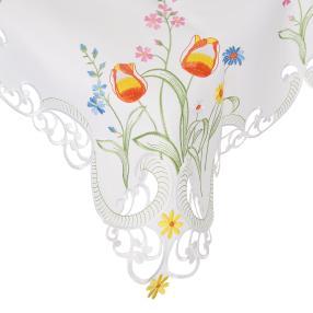 Mitteldecke Tulpen 85 x 85 cm, bunt