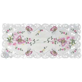 Tischläufer 40 x 90 cm, Schmetterlinge pink