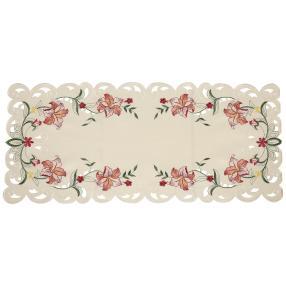 Tischläufer Lilien 40x90cm bordeaux