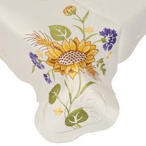 Mitteldecke 85 x 85 cm, Blumen bunt