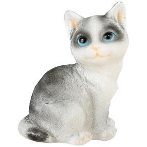 LED-Kerze Katze grau