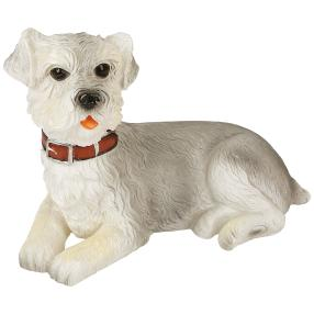 LED-Kerze Hund grau