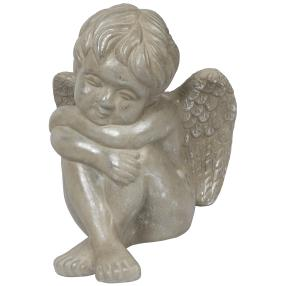 Keramik-Engel silber